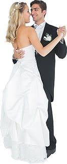 Ein Hochzeits-Tanzpaar