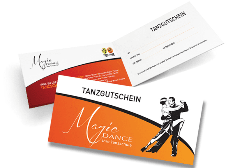 Tanzgutschein - Tanzschule Magic Dance