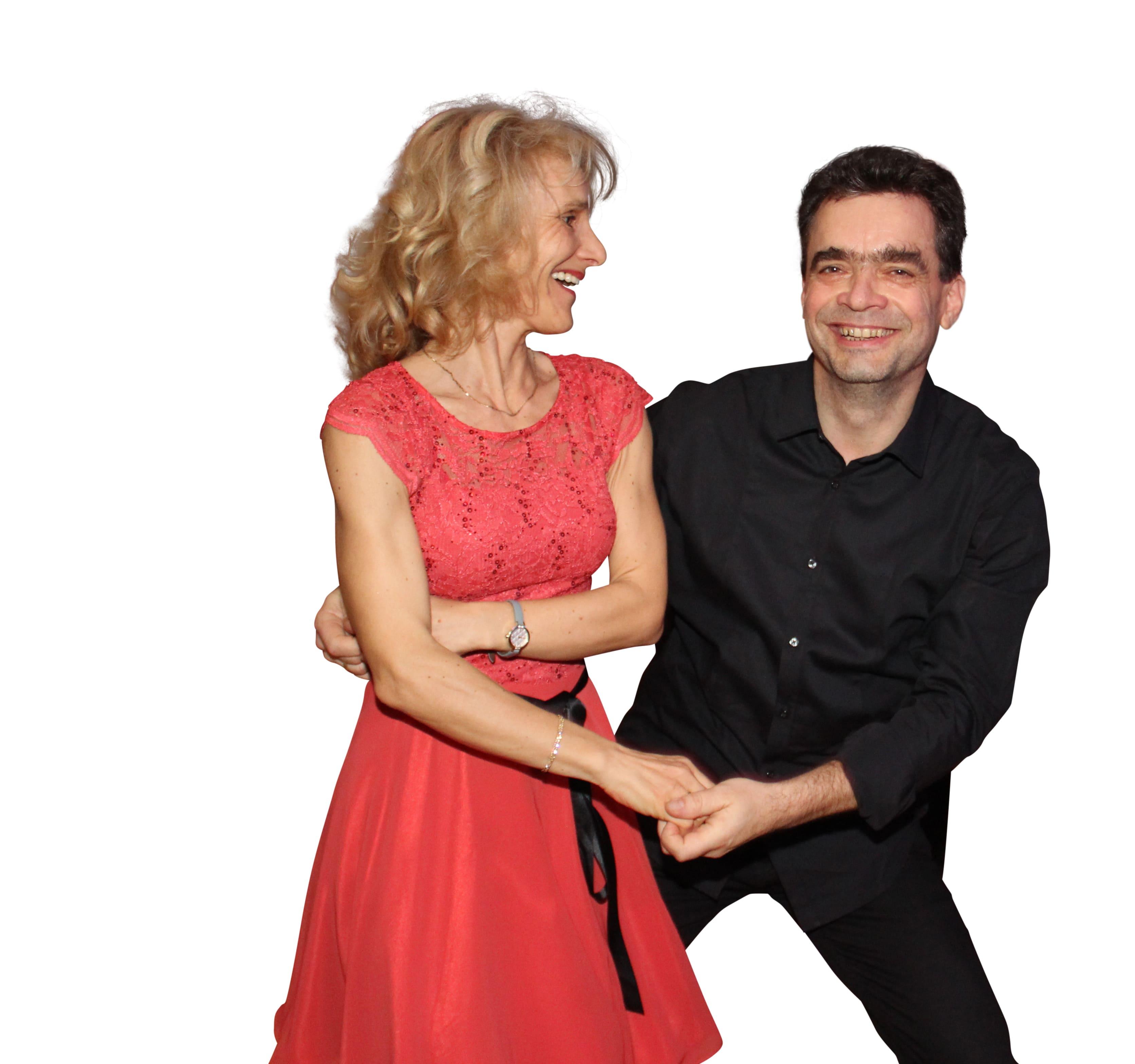 Ein Tanzpaar beim Discofox